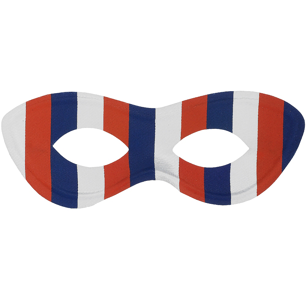 Red, White & Blue Domino Mask Image #1