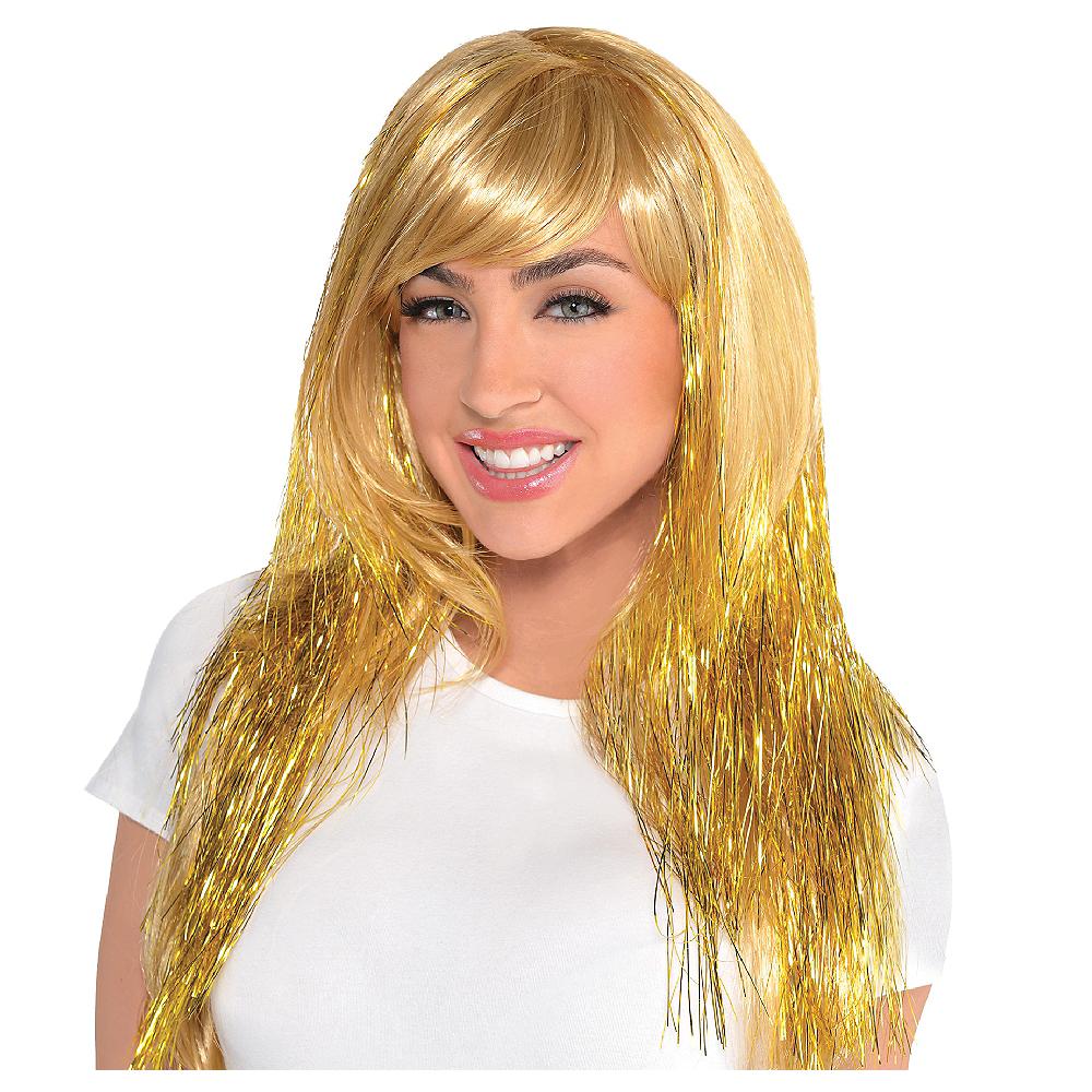 Glamorous Long Gold Wig Image #1