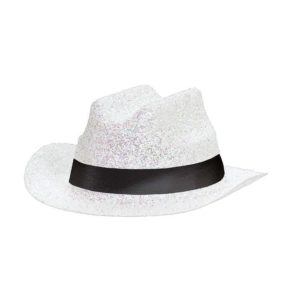 White Glitter Mini Cowboy Hat Image #2