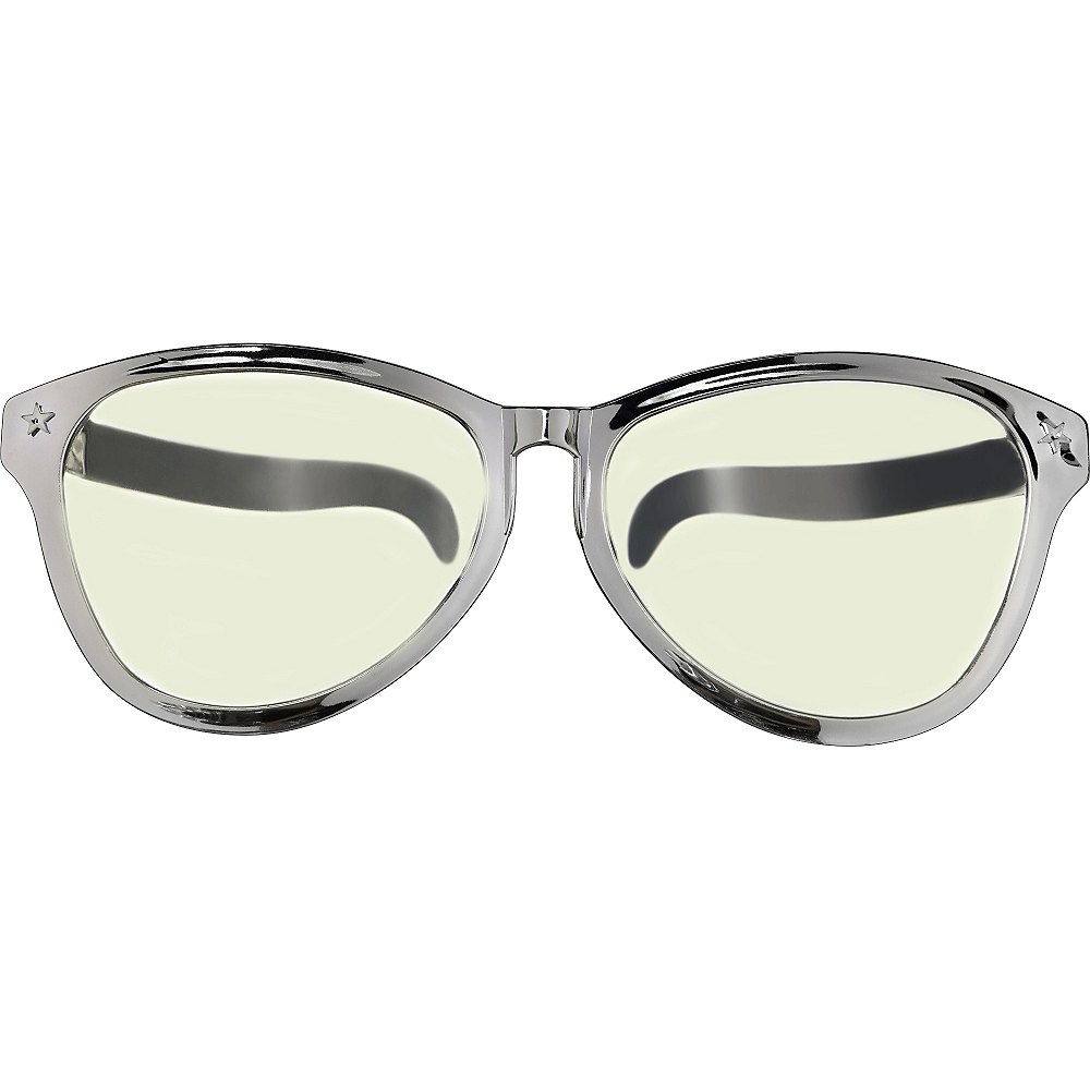 Silver Giant Fun Glasses Image #1