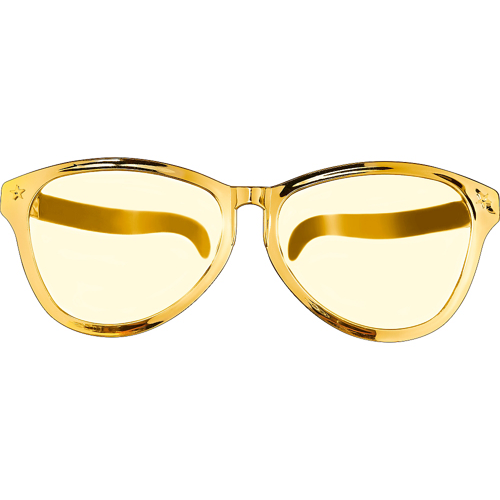 Gold Giant Fun Glasses Image #1