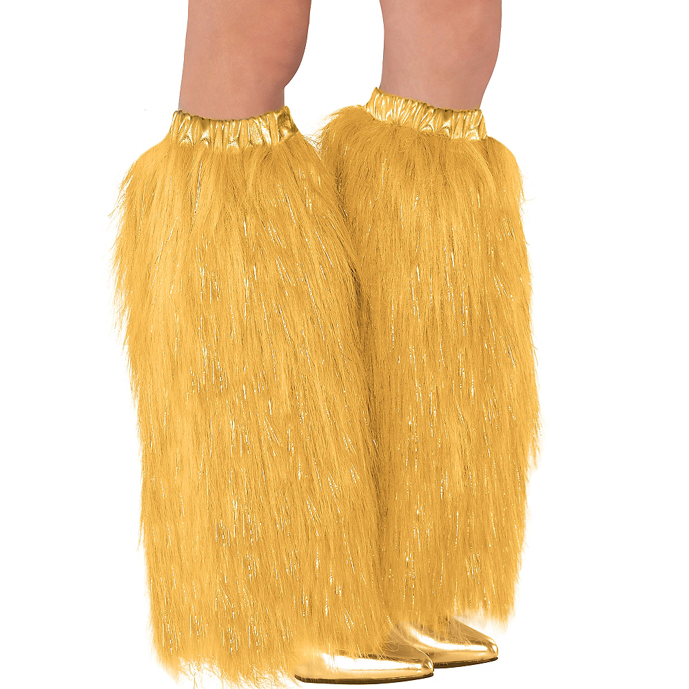 Gold Furry Leg Warmers Image #1