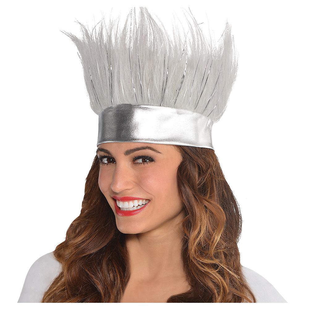 Silver Crazy Hair Headband Image #1