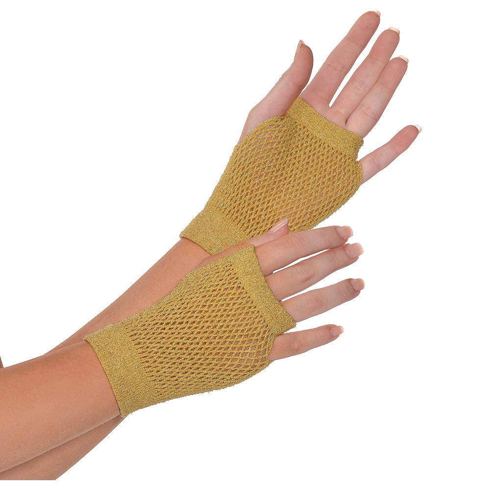 Gold Fishnet Glovelettes Image #1