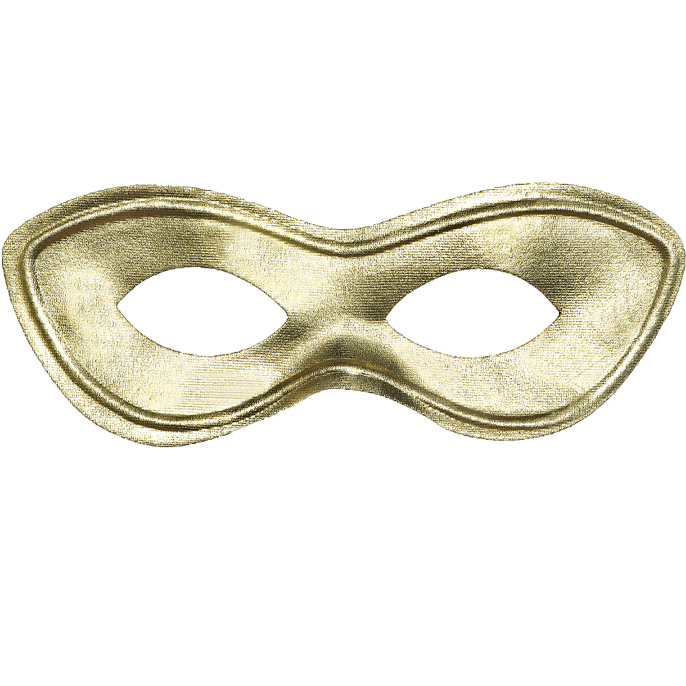 Gold Domino Mask Image #1