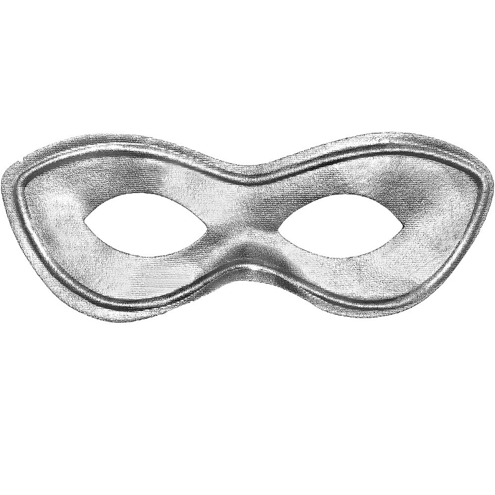 Silver Domino Mask Image #1