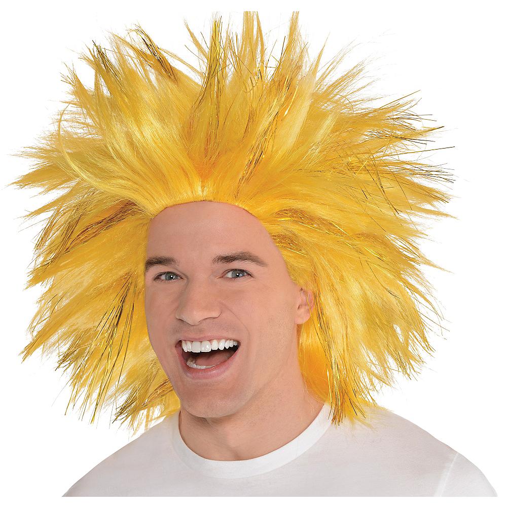 Gold Crazy Wig Image #1