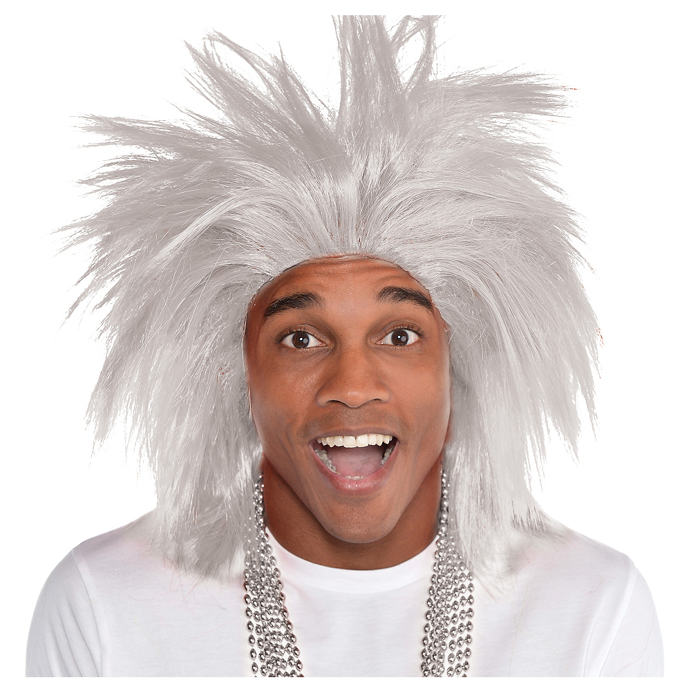 Nav Item for Silver Crazy Wig Image #1
