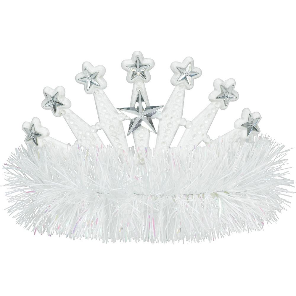 White Star Tinsel Tiara Image #1
