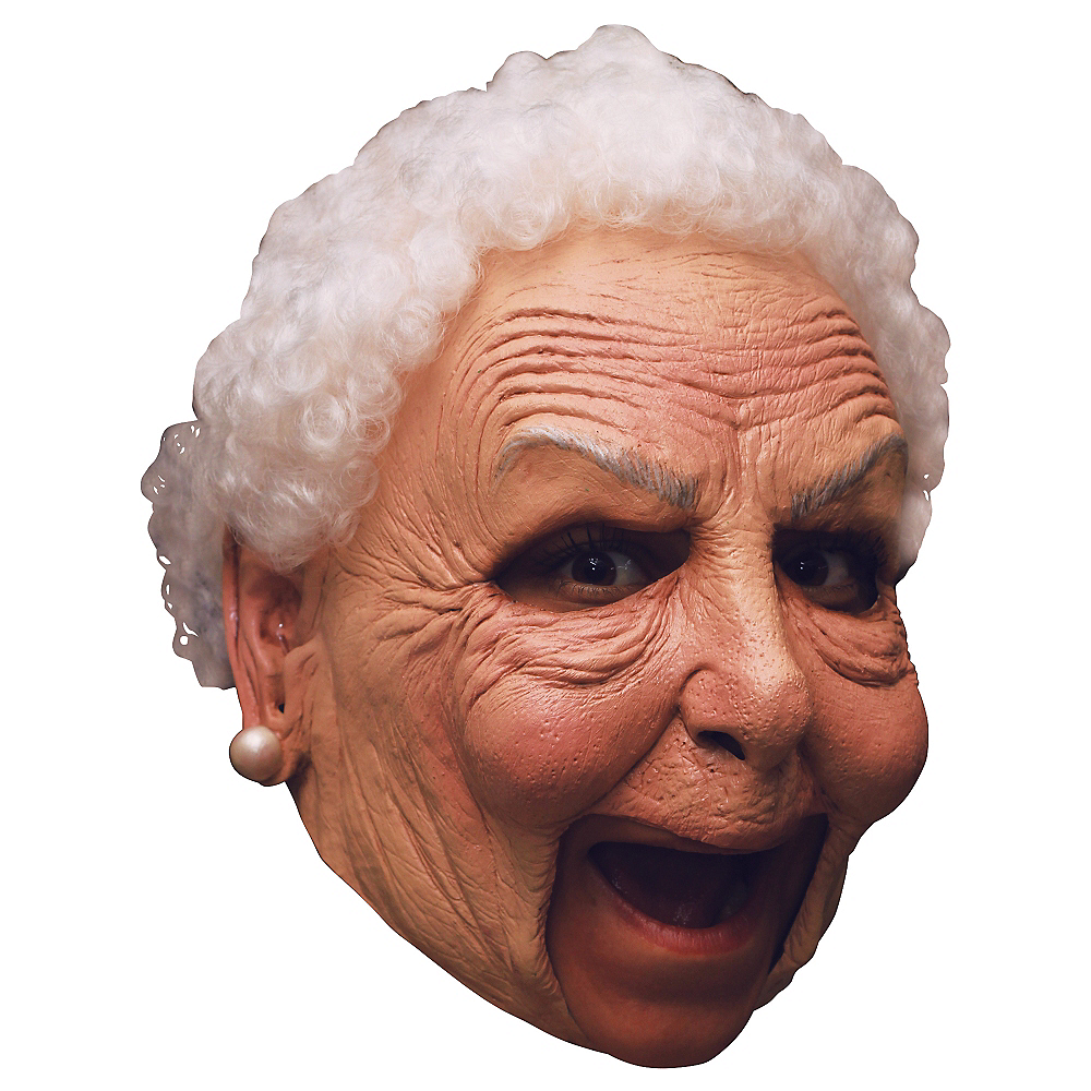 Grandma Old Lady Mask Deluxe Image #1