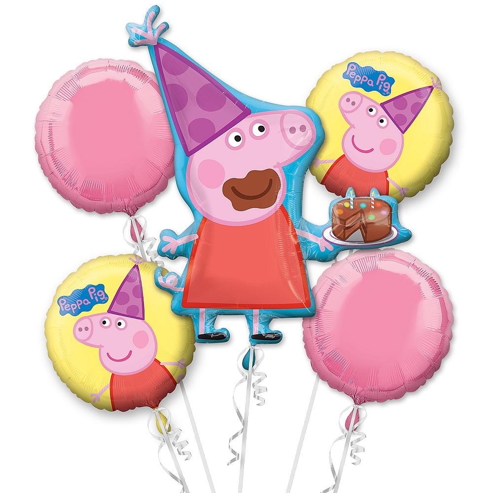 Peppa Pig Balloon Bouquet 5pc Image #1
