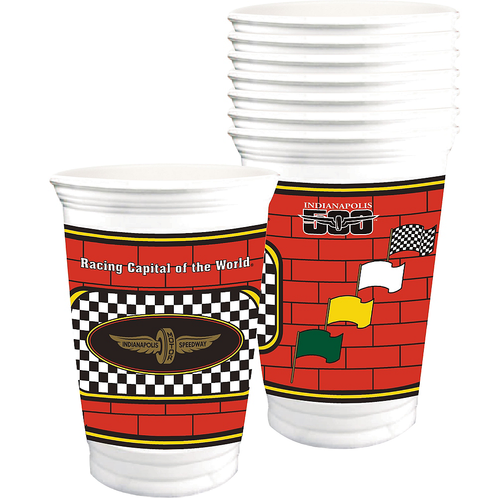 Indy 500 Plastic Cups 8ct Image #1