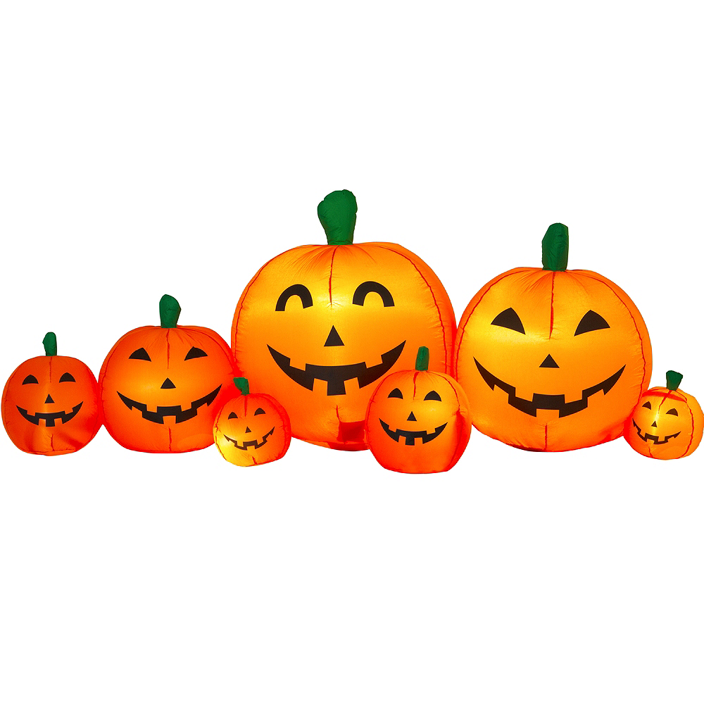 Light-Up Inflatable Pumpkin Patch 8ft x 3ft | Party City