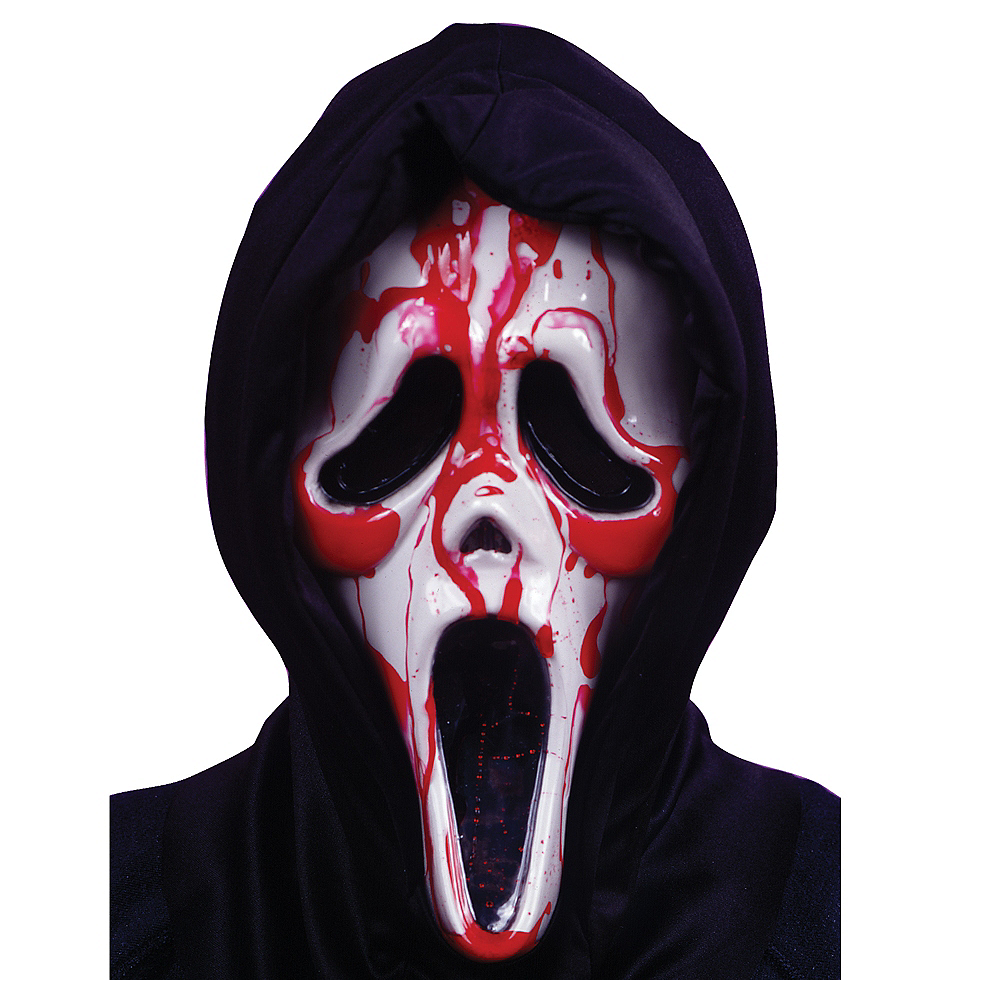 Dripping Blood Ghost Face Mask Image #1