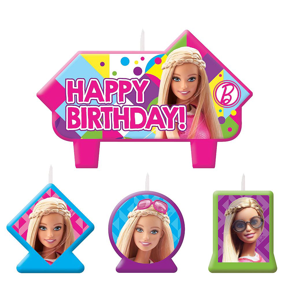 Barbie Birthday Candles 4ct