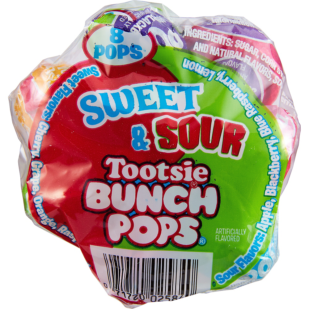 Tootsie Sweet & Sour Bunch Pops 8ct Image #2