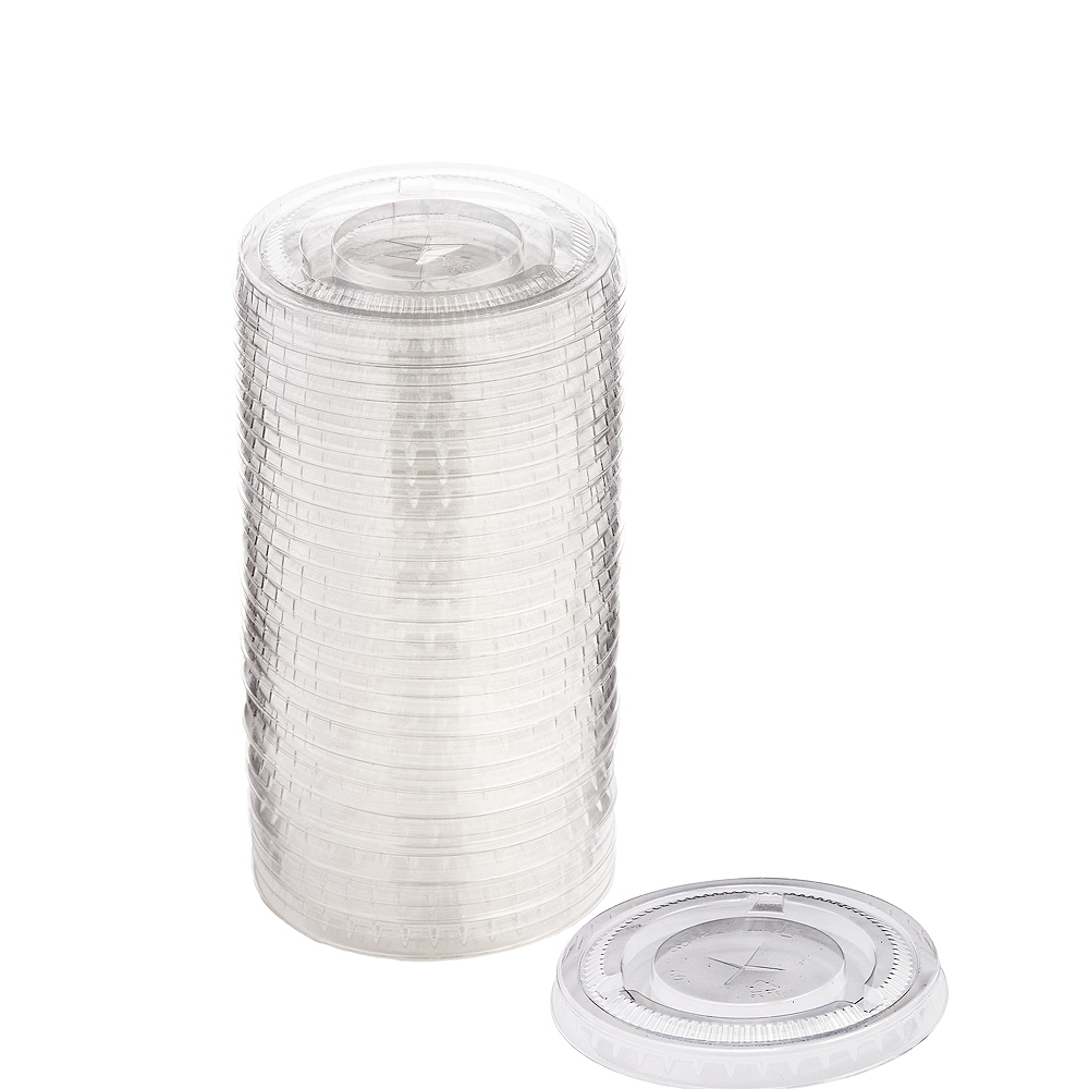 Big Party Pack Clear Plastic Cup Lids 50ct Image #1