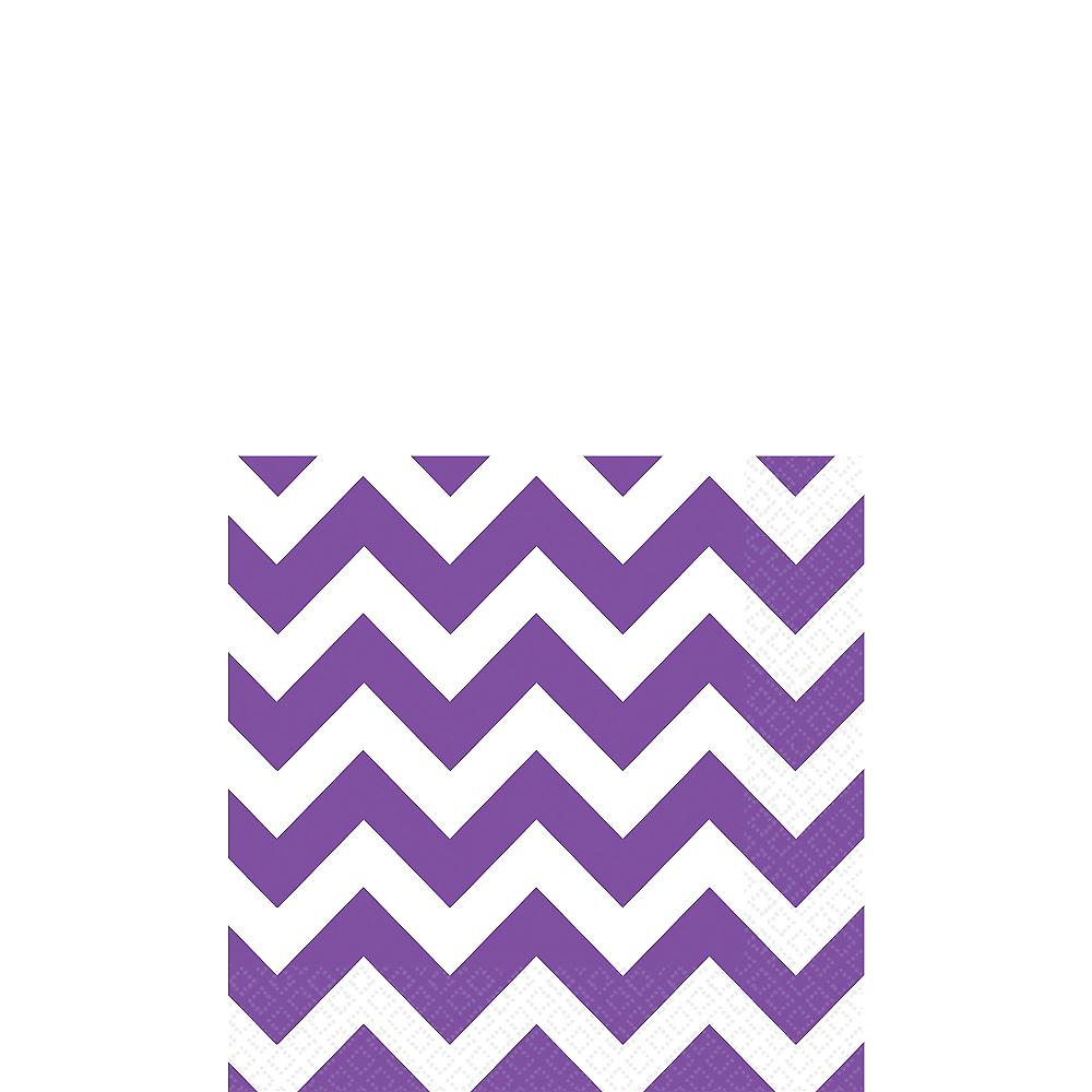 Purple Chevron Beverage Napkins 16ct Image #1