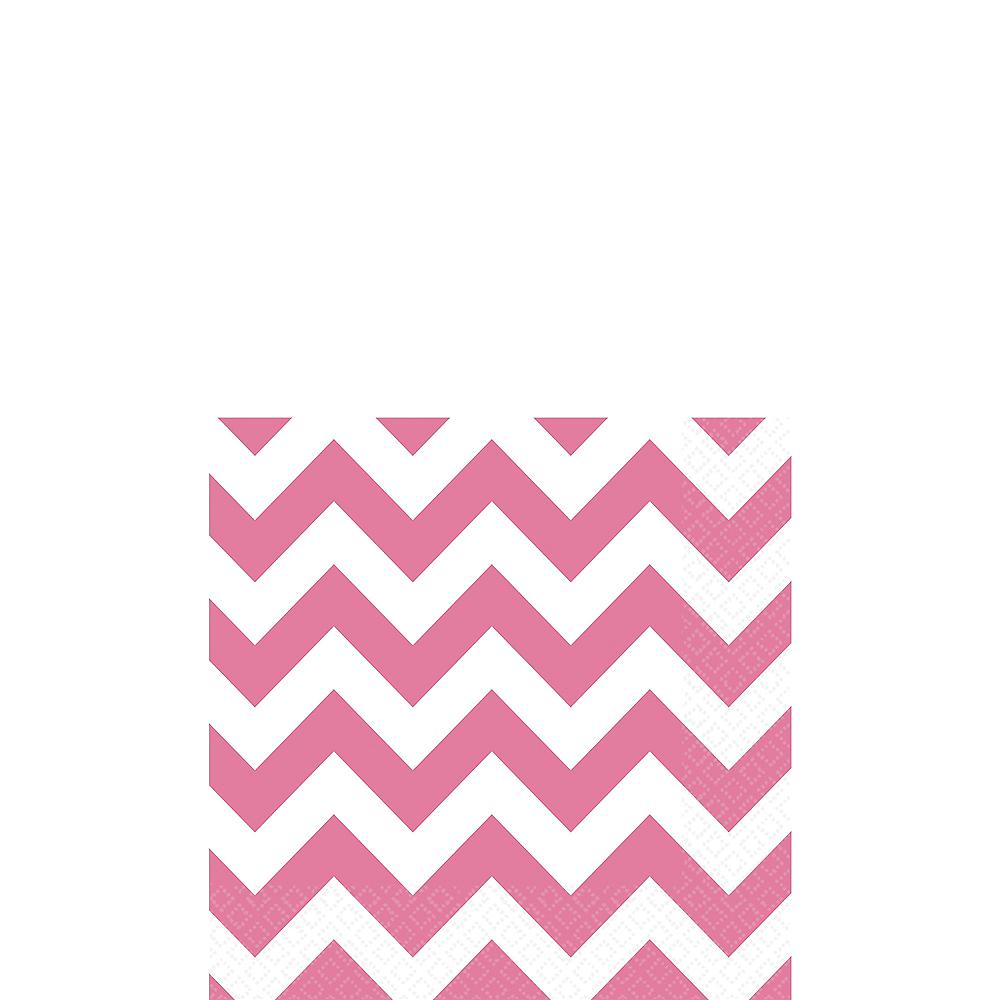 Bright Pink Chevron Beverage Napkins 16ct Image #1