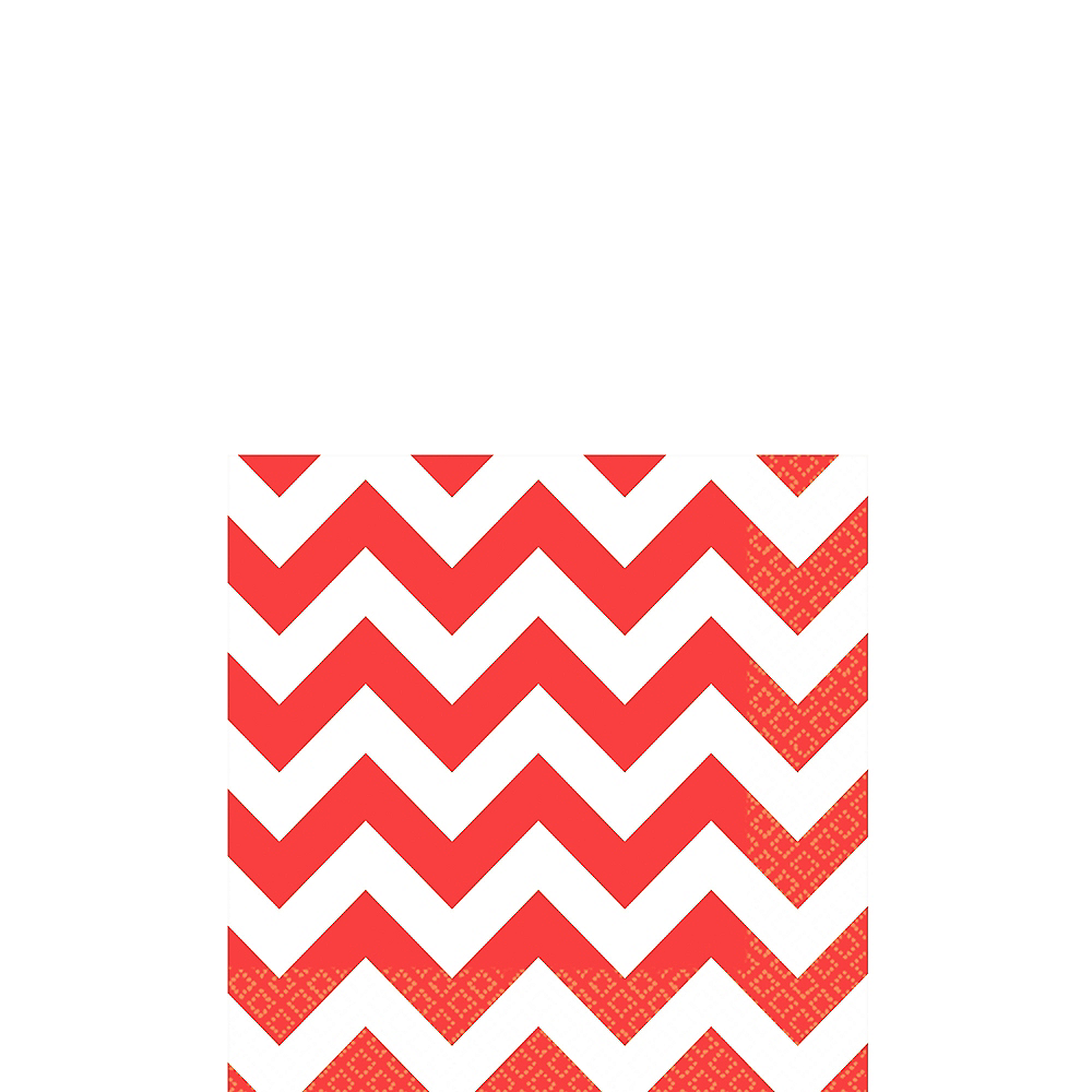 Red Chevron Beverage Napkins 16ct Image #1