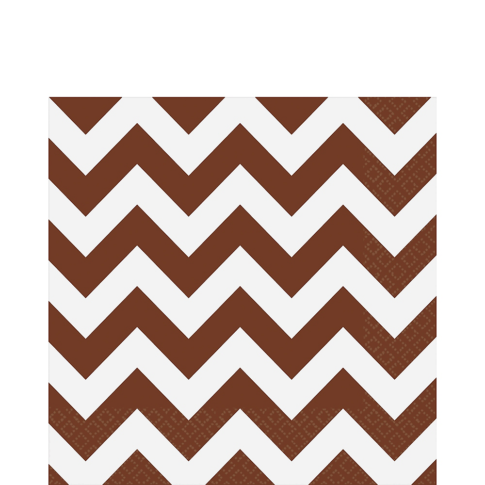 Chocolate Brown Chevron Lunch Napkins 16ct Image #1