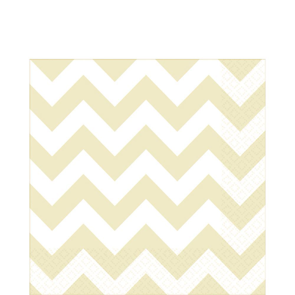 Vanilla Cream Chevron Lunch Napkins 16ct Image #1
