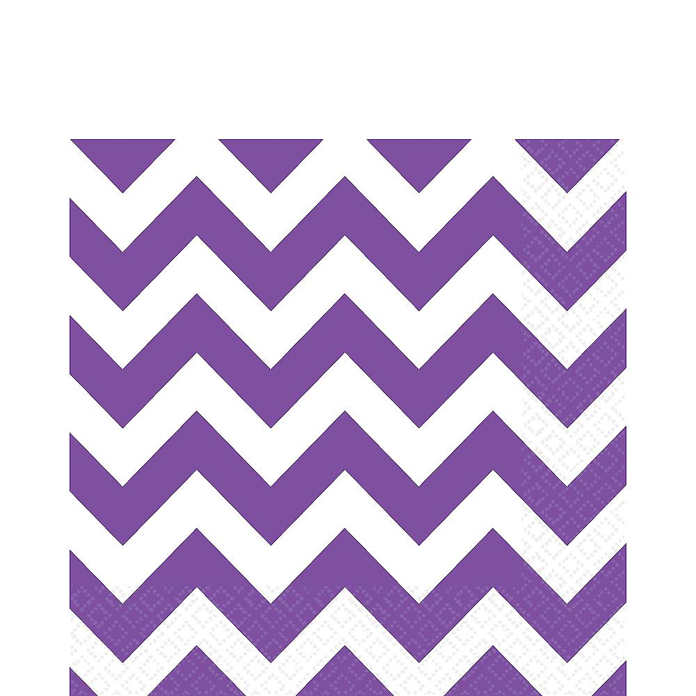 Purple Chevron Lunch Napkins 16ct Image #1