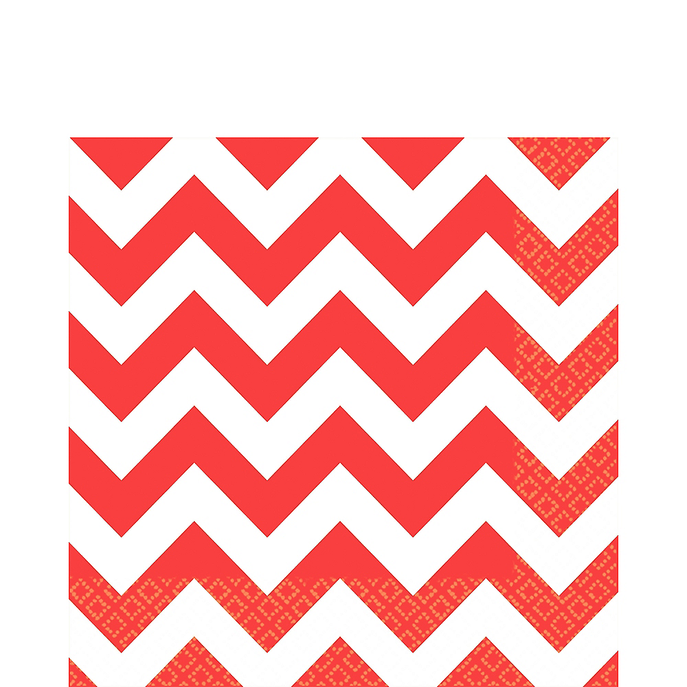 Red Chevron Lunch Napkins 16ct Image #1