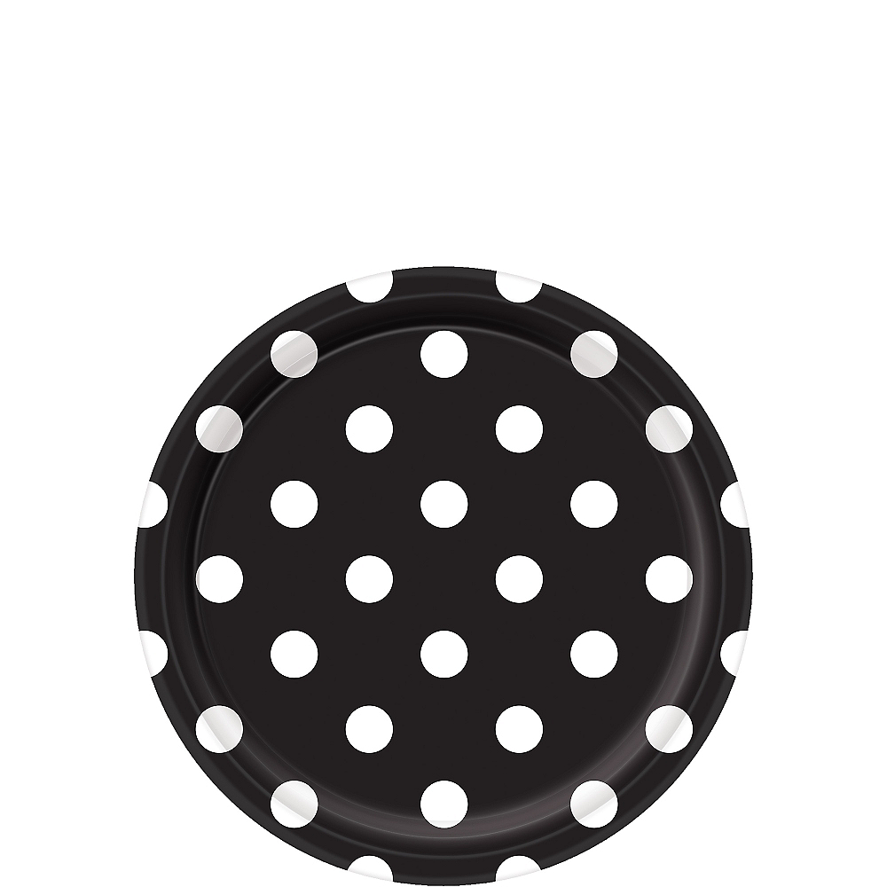 Nav Item for Black Polka Dot Dessert Plates 8ct Image #1
