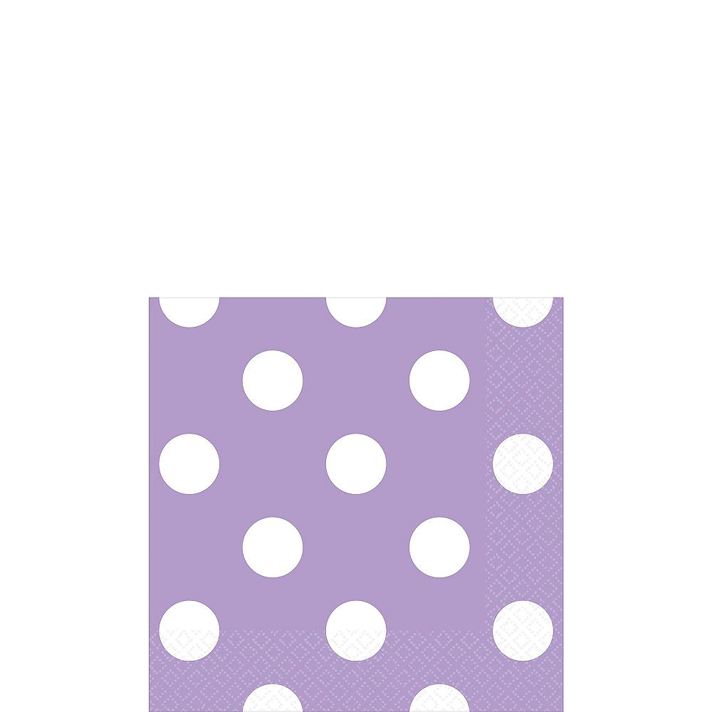 Lavender Polka Dot Beverage Napkins 16ct Image #1