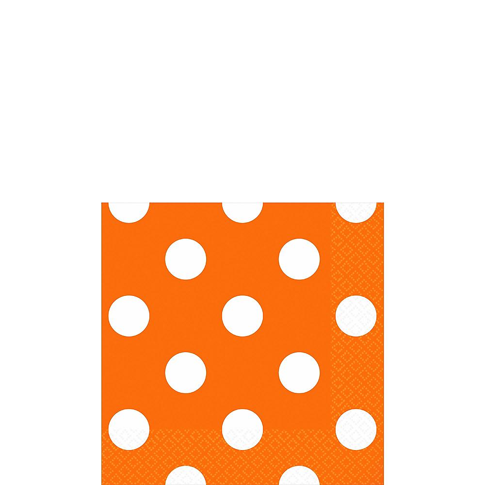 Orange Polka Dot Beverage Napkins 16ct Image #1