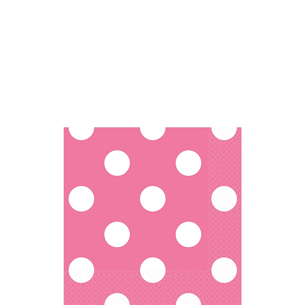 Bright Pink Polka Dot Beverage Napkins 16ct Image #1