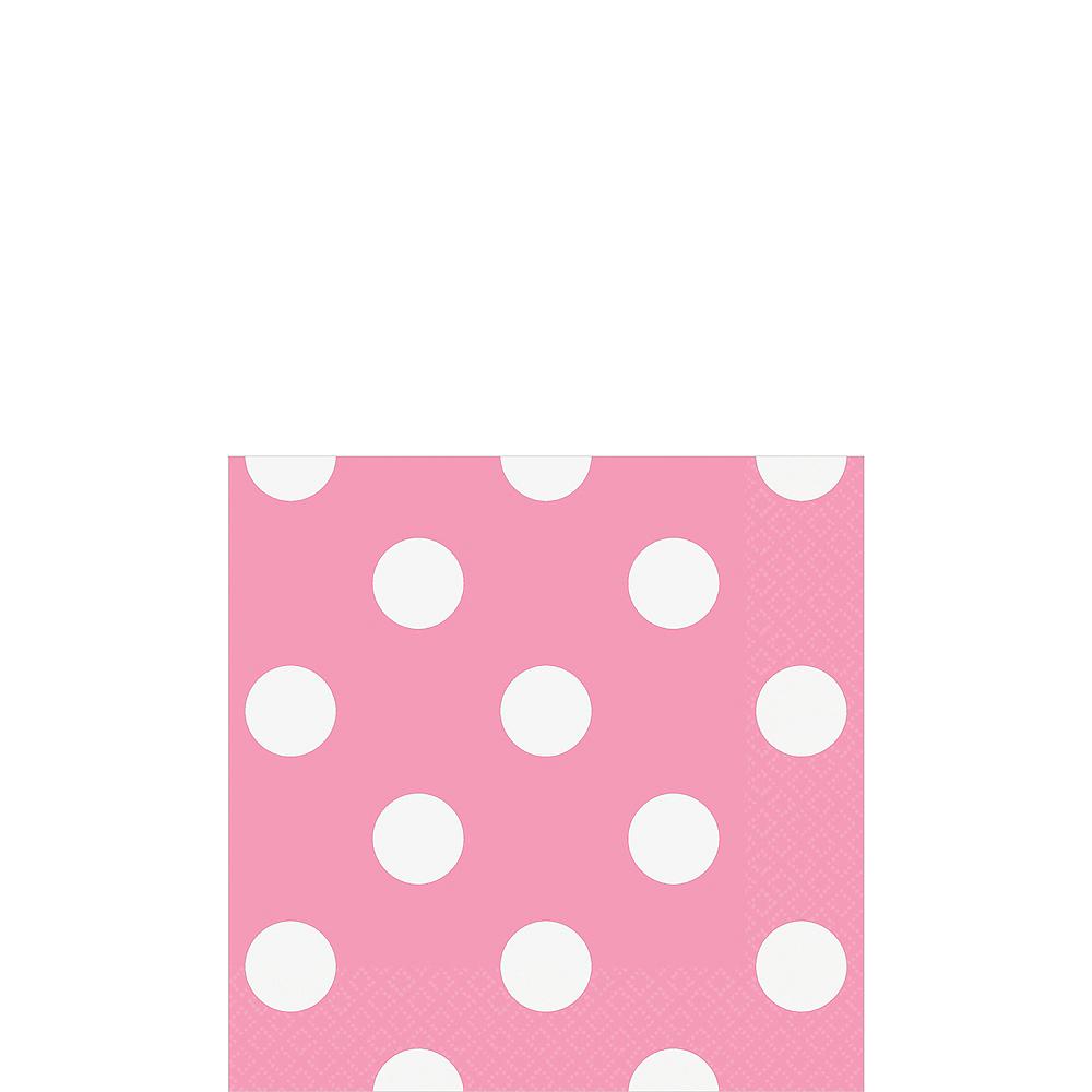 Pink Polka Dot Beverage Napkins 16ct Image #1