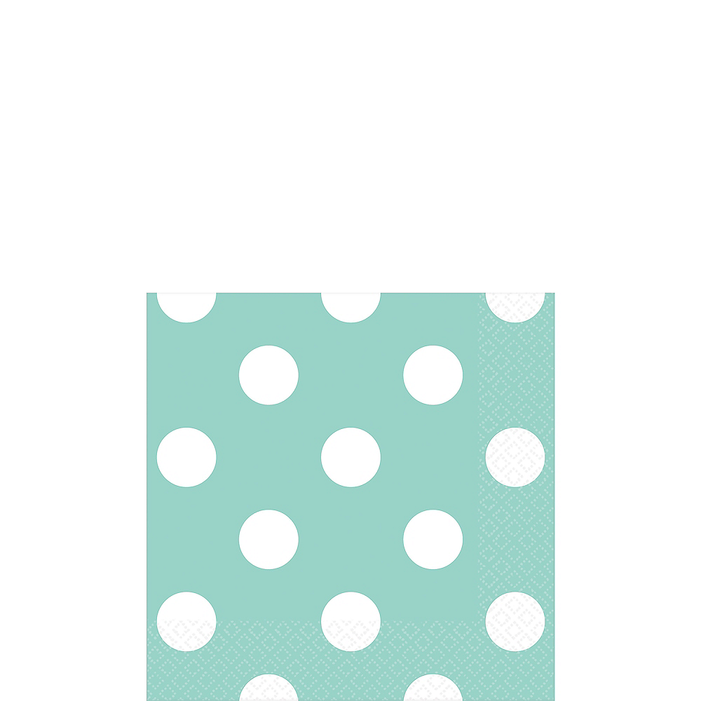 Robin's Egg Blue Polka Dot Beverage Napkins 16ct Image #1