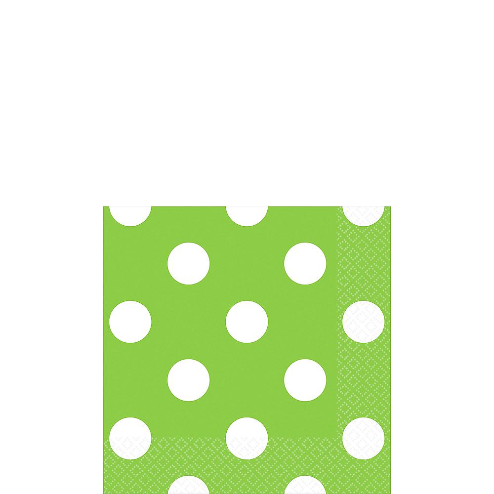 Kiwi Green Polka Dot Beverage Napkins 16ct Image #1