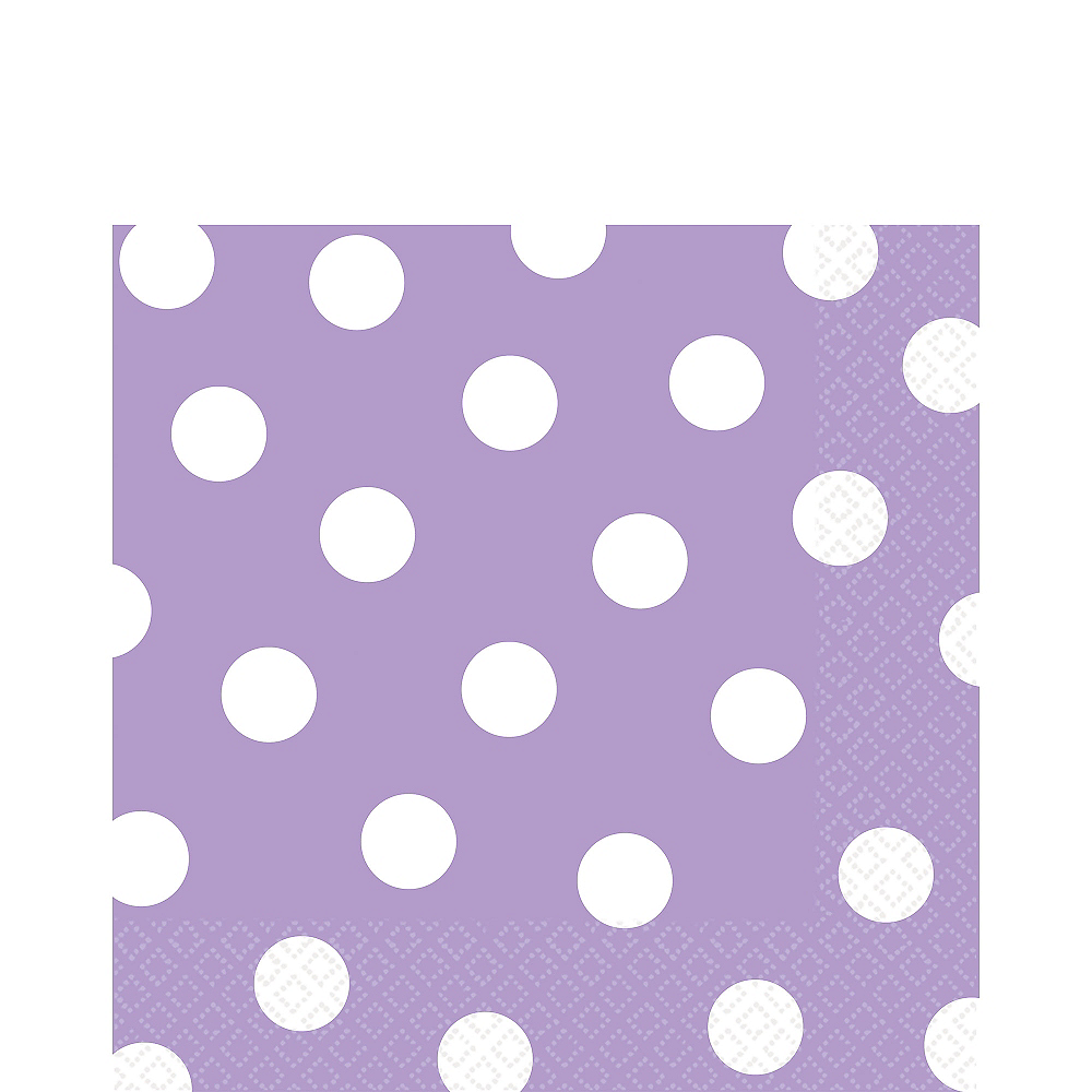 Lavender Polka Dot Lunch Napkins 16ct Image #1