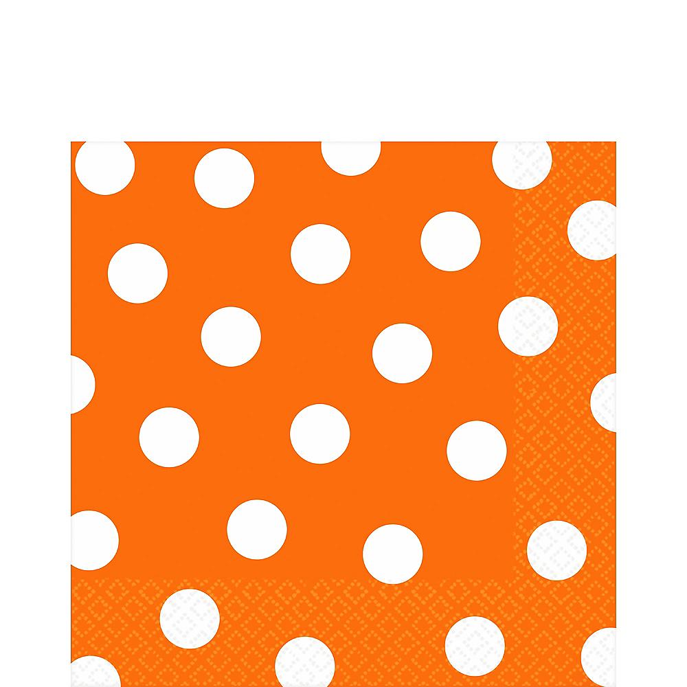 Orange Polka Dot Lunch Napkins 16ct Image #1