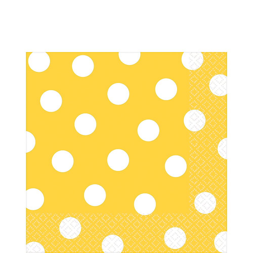 Sunshine Yellow Polka Dot Lunch Napkins 16ct Image #1