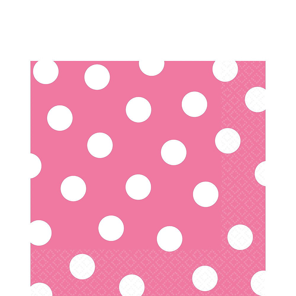 Bright Pink Polka Dot Lunch Napkins 16ct Image #1