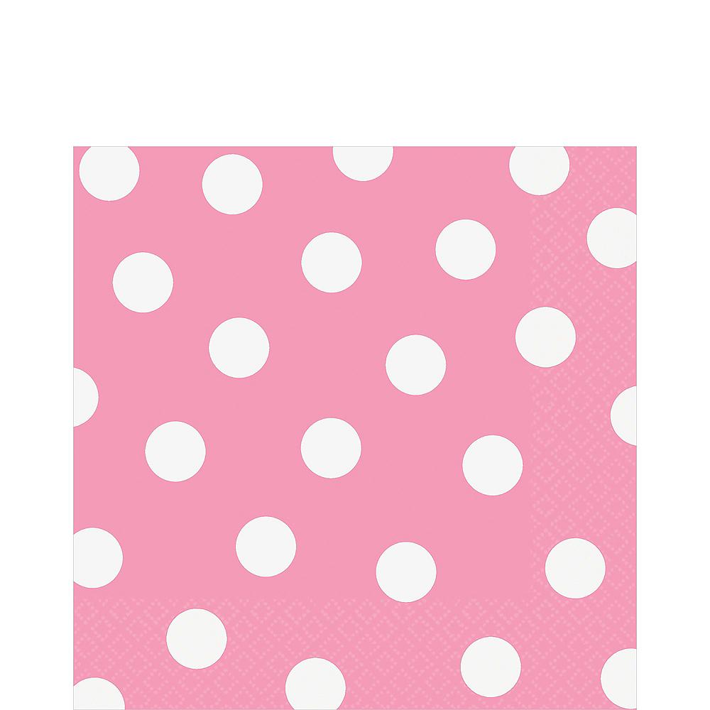 Pink Polka Dot Lunch Napkins 16ct Image #1