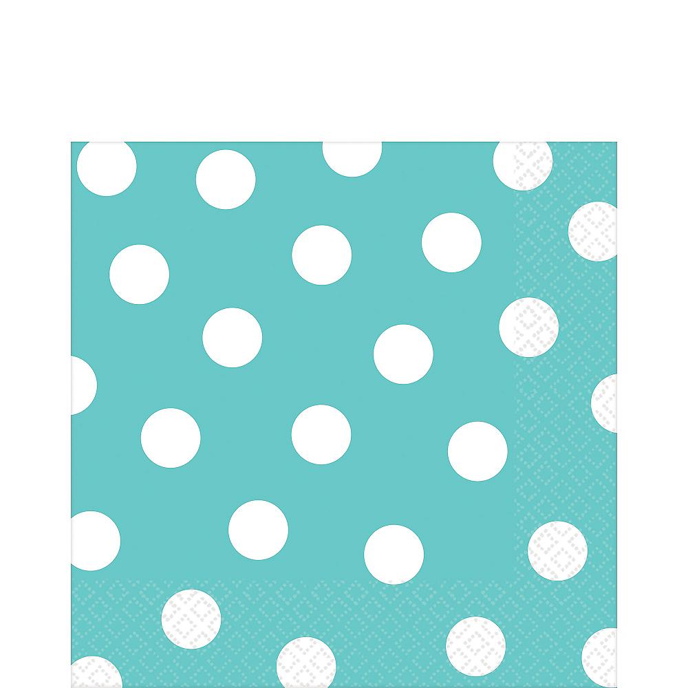 Robin's Egg Blue Polka Dot Lunch Napkins 16ct Image #1