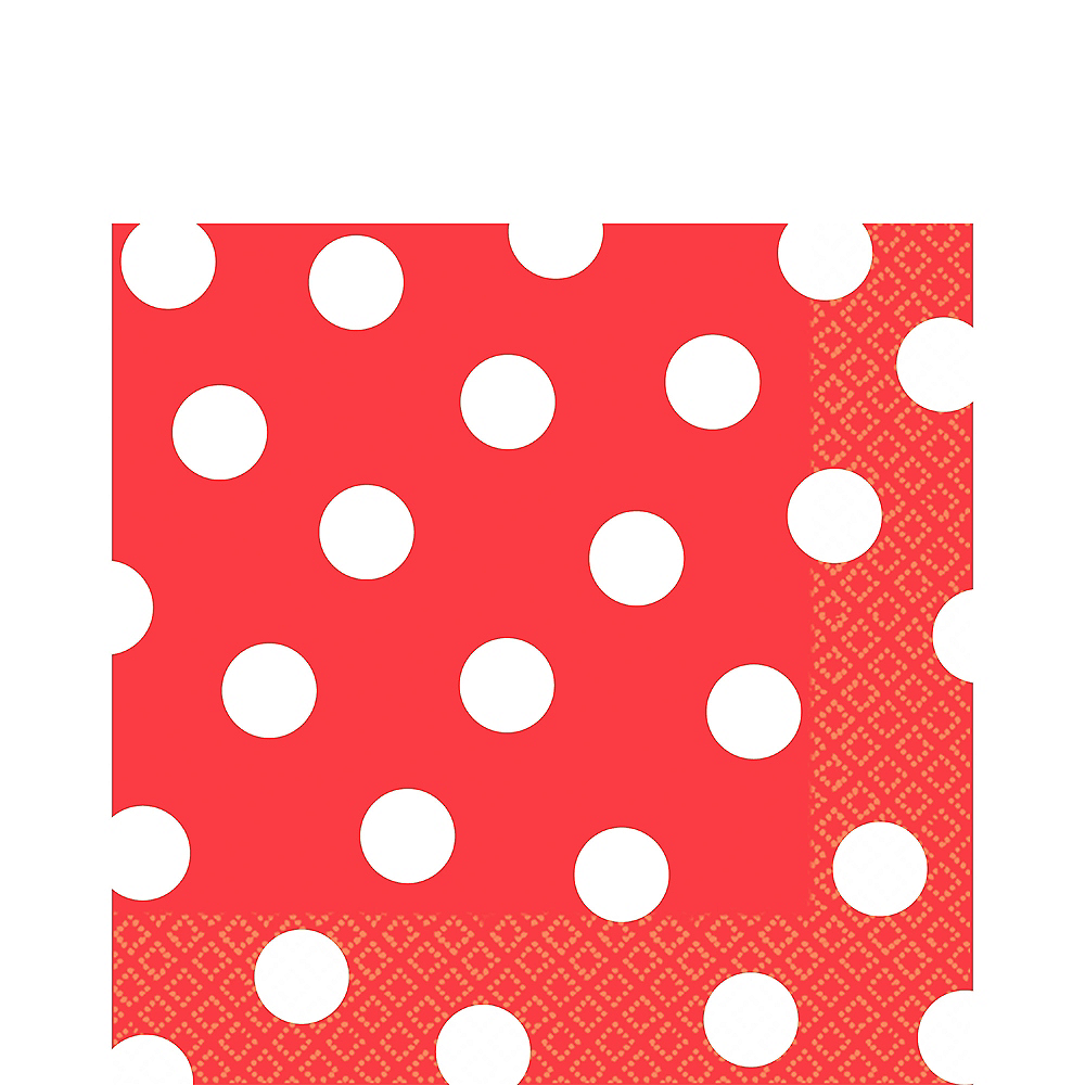 Red Polka Dot Lunch Napkins 16ct Image #1