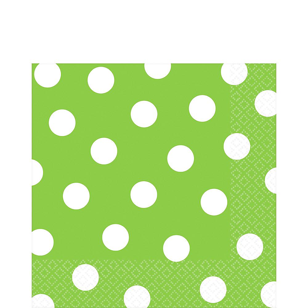 Kiwi Green Polka Dot Lunch Napkins 16ct Image #1