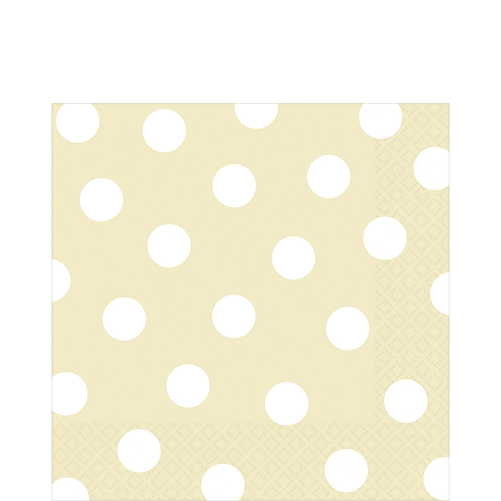 Vanilla Cream Polka Dot Lunch Napkins 16ct Image #1