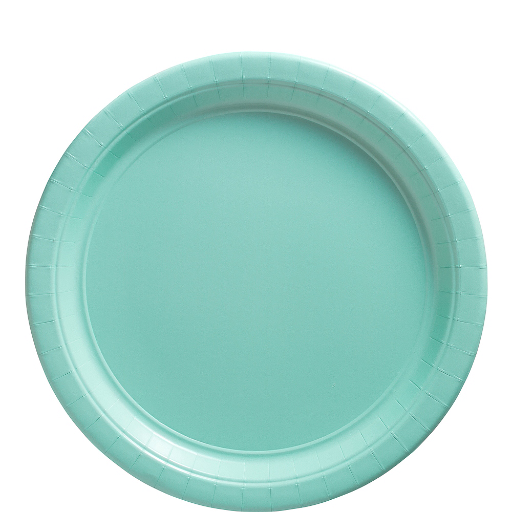 Robin's Egg Blue Paper Lunch Plates 20ct Image #1