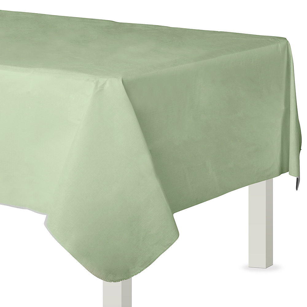 Leaf Green Flannel-Backed Vinyl Tablecloth Image #1