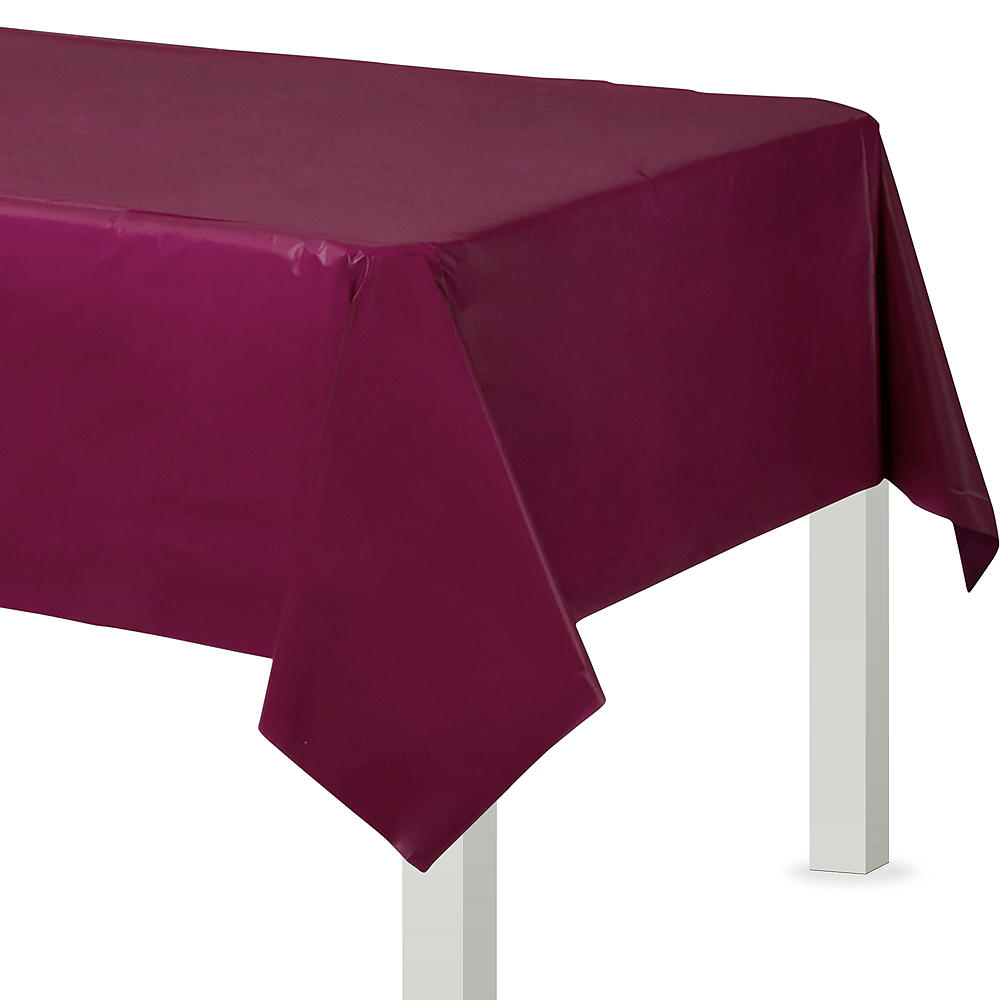 Berry Flannel-Backed Vinyl Tablecloth Image #1