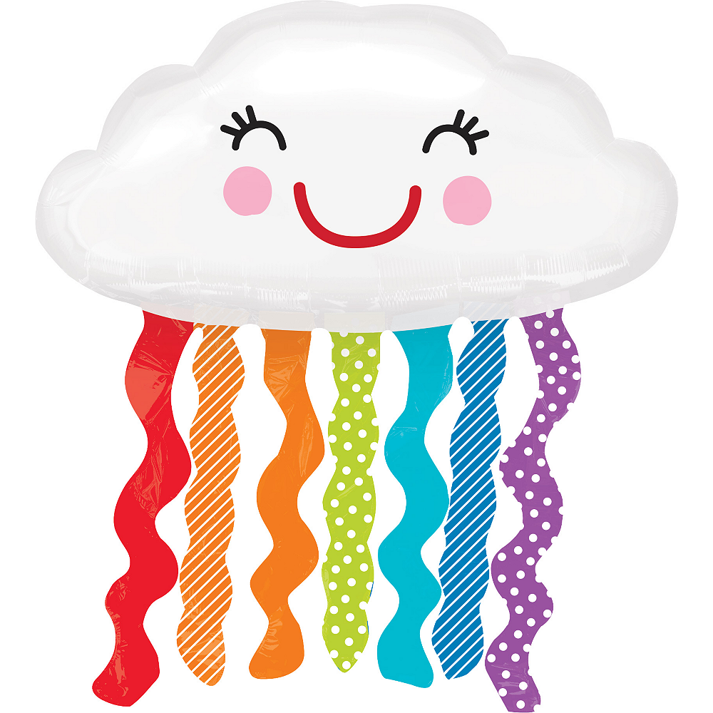 Rainbow Cloud Balloon 34in x 36in Image #1
