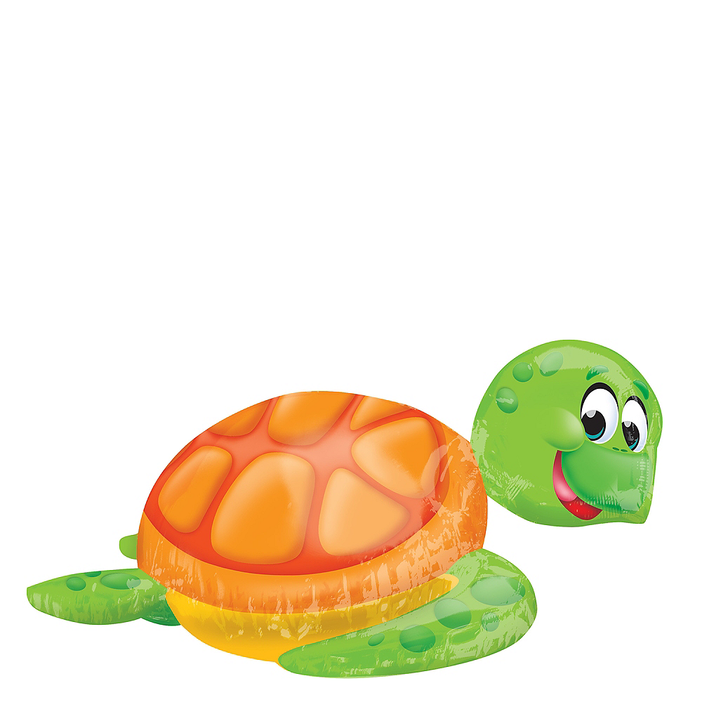 Silly Sea Turtle Balloon 31in x 20in Image #1