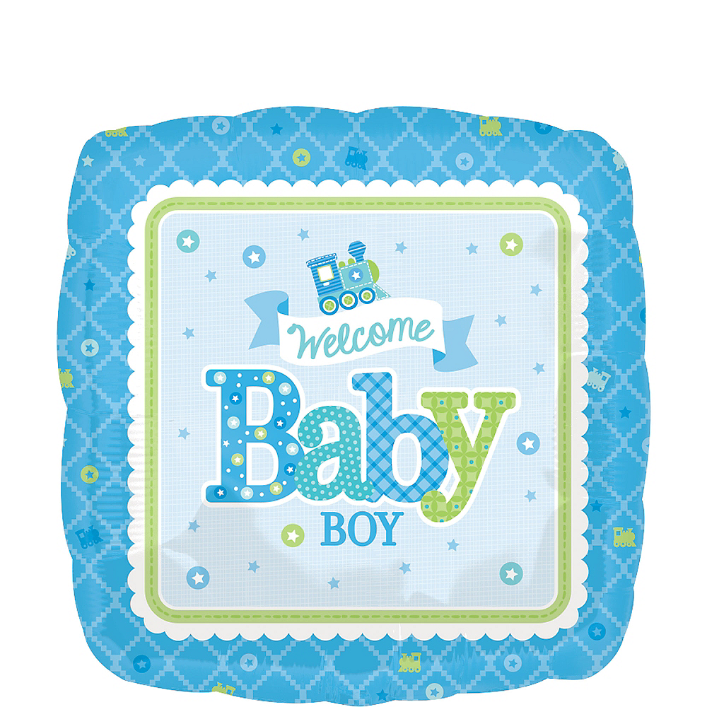 Boy Welcome Baby Balloon - Welcome Little One 17in Image #1
